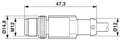 46412 m12 8 pole encoder cable l3000mm malefemale straight shielded dimensions