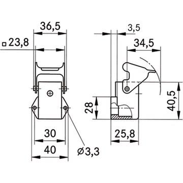 46602 epic ultra ha 3 ags emc chassis housing angled 10423202