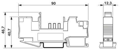 46792 base element for circuit breaker cb 1624 ptbe 2800929 dimensions