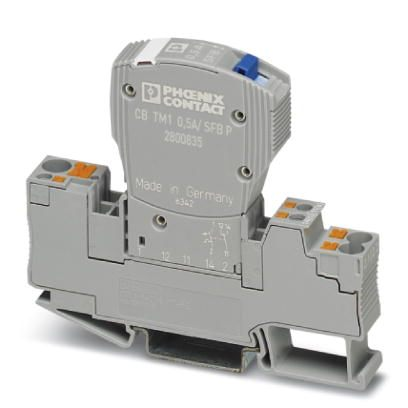 46802 thermomagnetic device circuit breaker cb tm1 05a sfb p 2800835 example mounted in base
