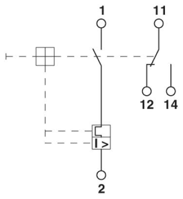 46815 thermomagnetic device circuit breaker cb tm1 1a sfb p 2800836 schematic