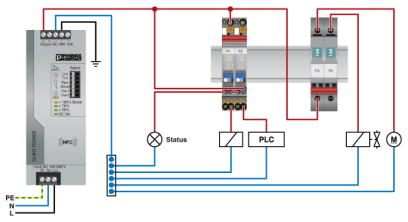46827 thermomagnetic device circuit breaker cb tm1 2a sfb p 2800837 application example