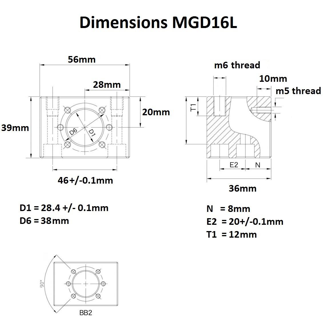 46952 mgd16l dimensions