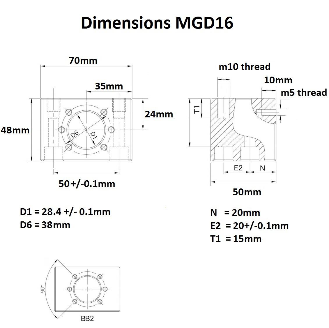 46962 mgd16 dimensions
