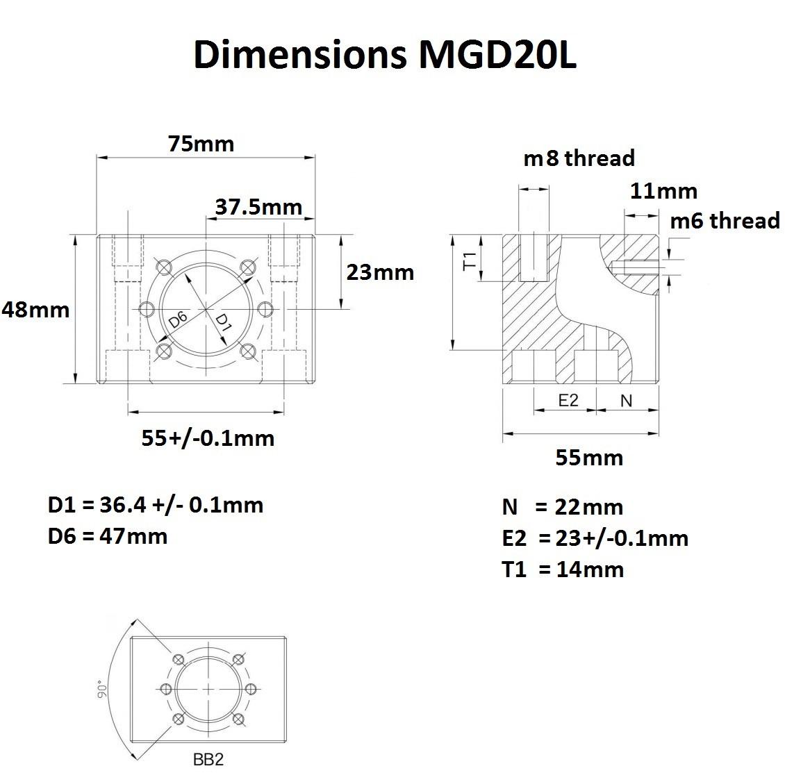 46972 mgd20l dimensions