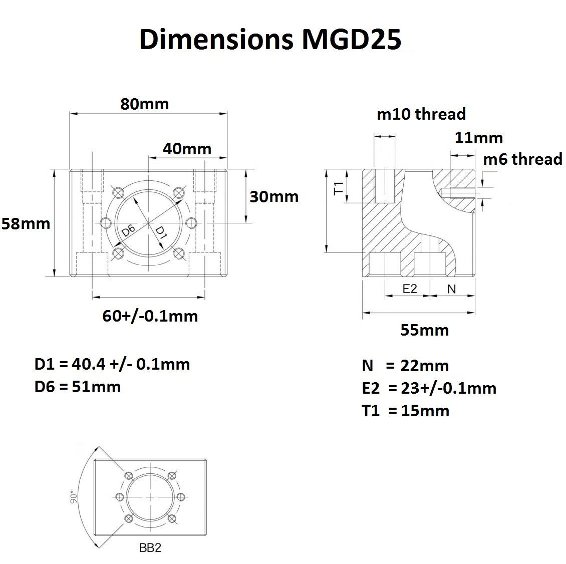 46992 mgd25 dimensions