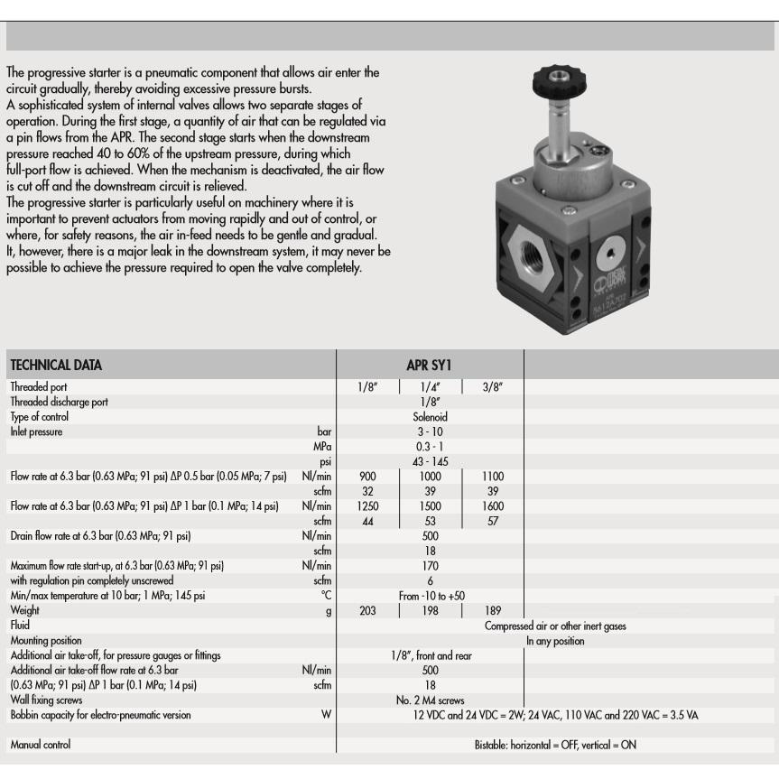47093 5610a700 softstart valve sy1 technical specs