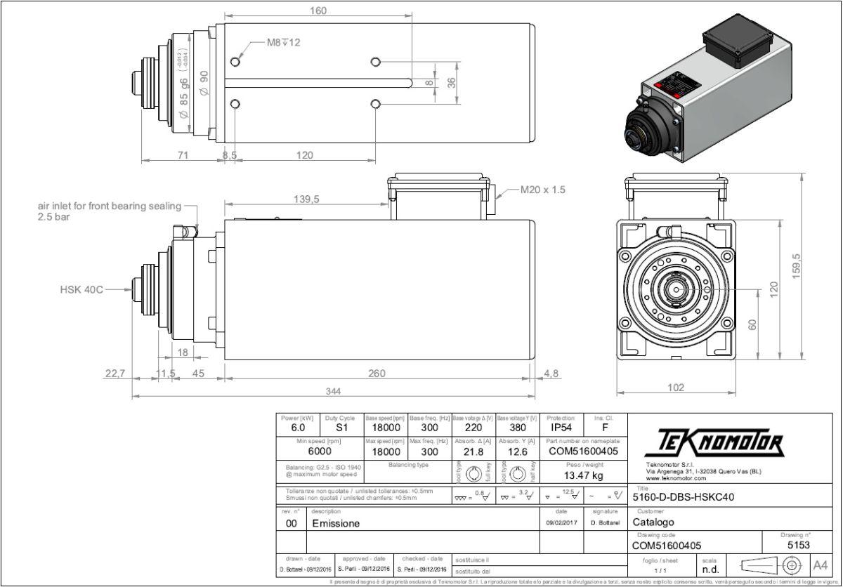 47222 teknomotor quicktoolchanger c5160ddbhsk40c60kw1800018000rpm dimensions