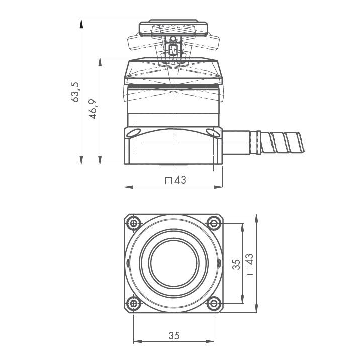 47265 blum novotest zxspeed 3d tool setting probe dimensions