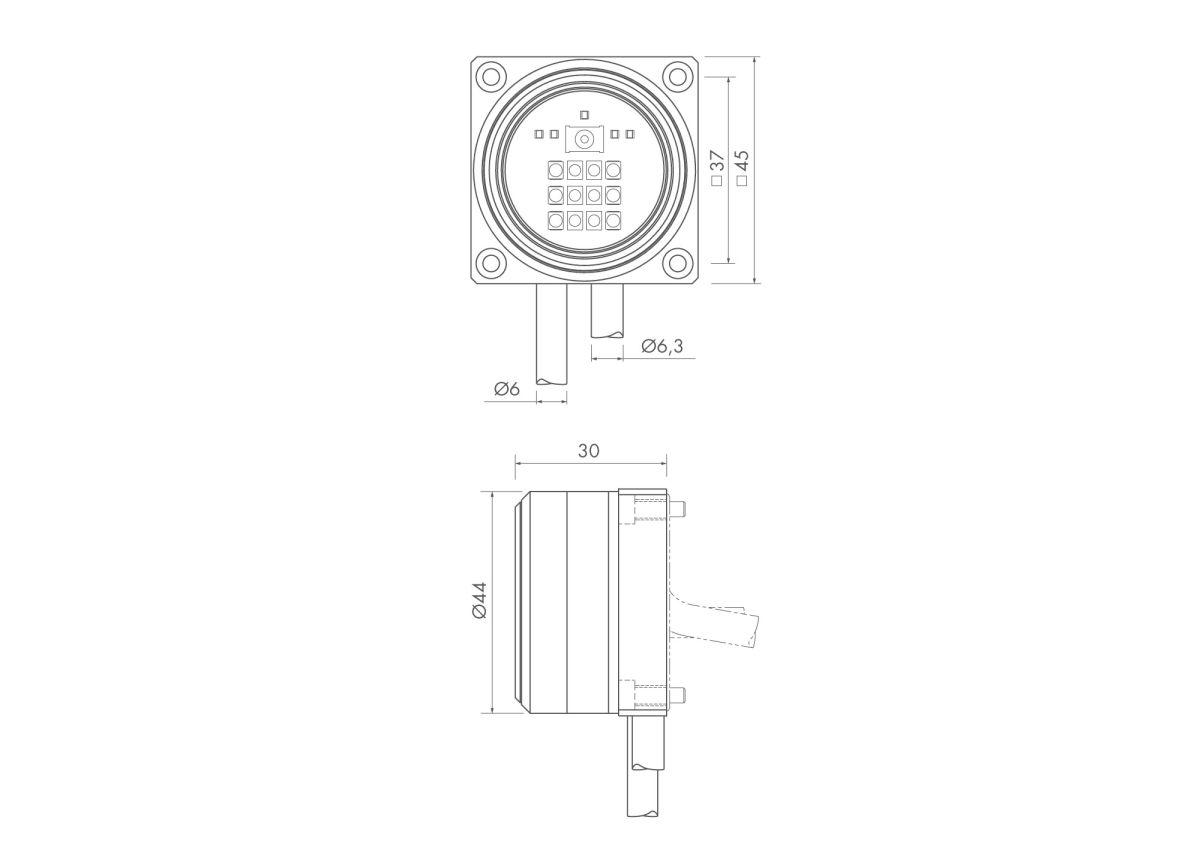47302 ir receiver set ic56 interface if59 mounting bracket dimensions