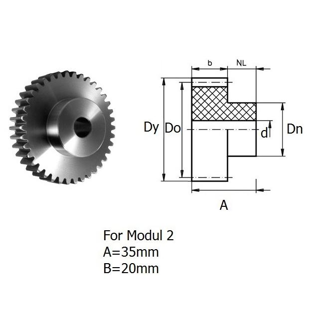 47381 rack pinion gear module 2 z13