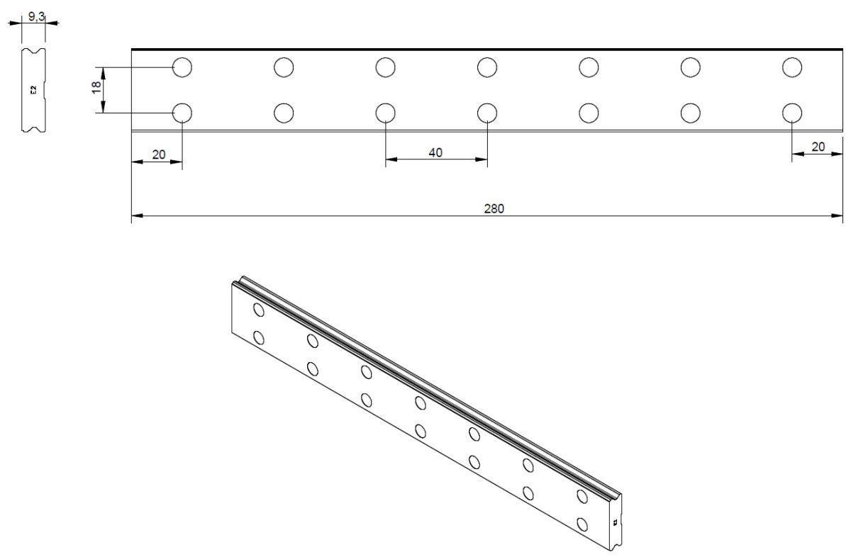 47492 hiwin profile rails wer17r280h dimensions