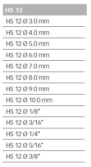 47593 hs 12 18inch 3175mm reduction sleeve available sizes