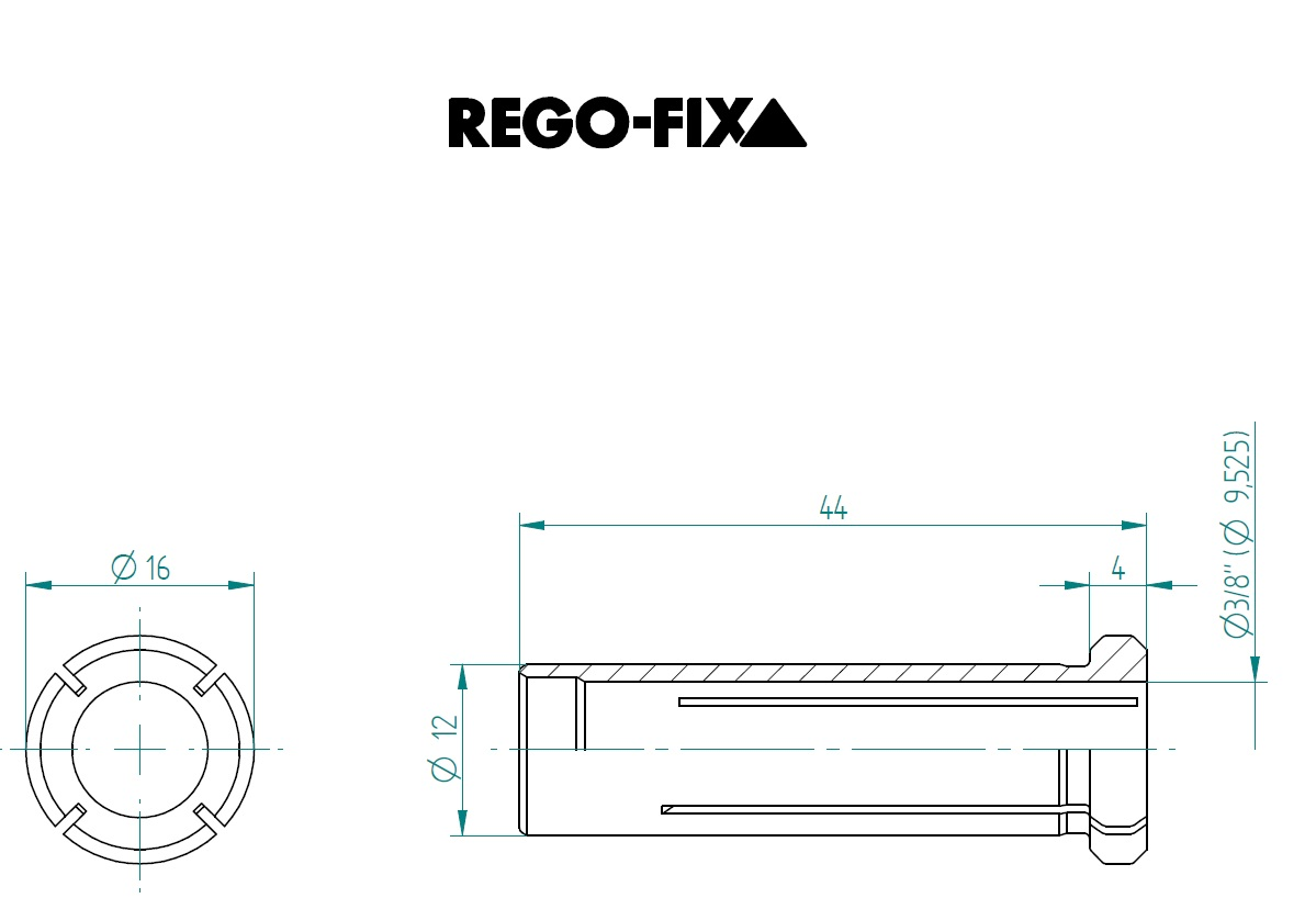 47638 hs 12 38 9525mm reduction sleeve dimensions