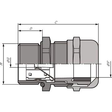 47894 cable gland m16x15 skintop msscm dimensions