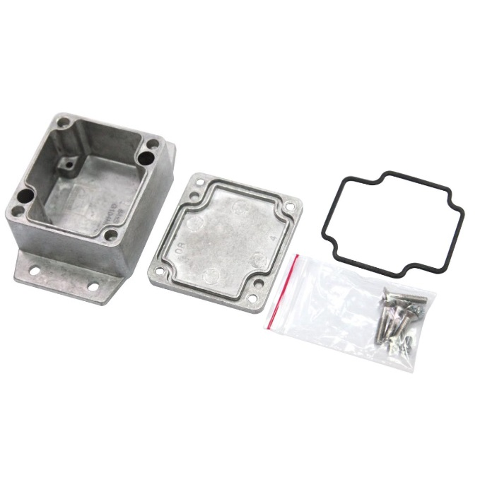 47931 die cast metal enclosure with seal and flange 65x58x35mm