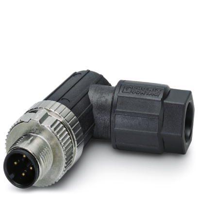 47981 m12 4pole angle male connector 1424654