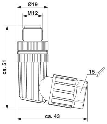 47982 m12 4pole angle male connector 1424654 dimensions