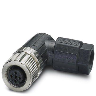 47991 m12 4pole angle female connector 1424656