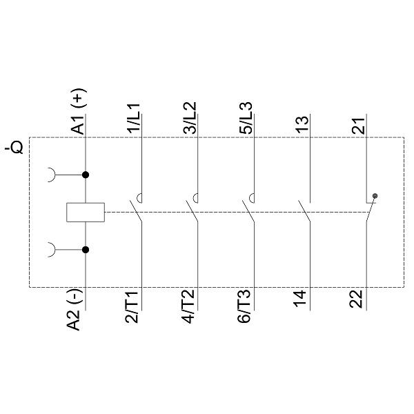 48864 siemens contactor ac3 185kw400v new type 3rt20281bb40 screw type schematic