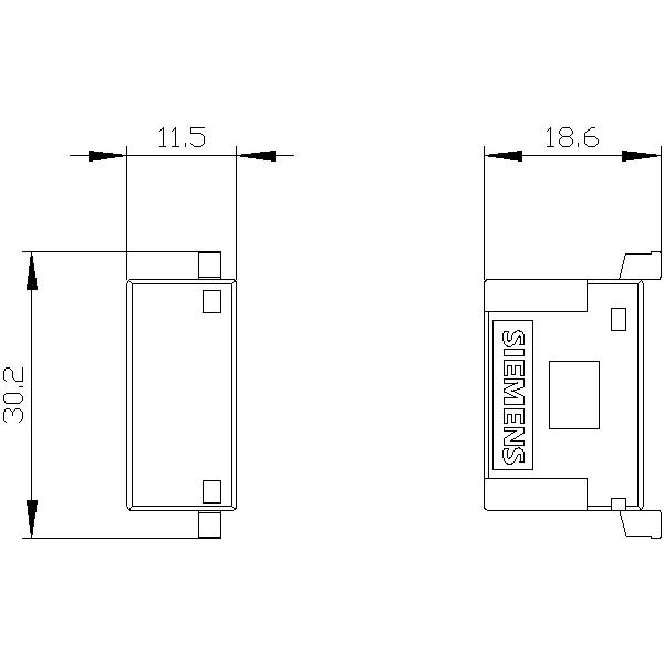 48872 siemens 3rt29261jj00 surge suppressor varistor with led ac 2448v dc 1224v dimensions