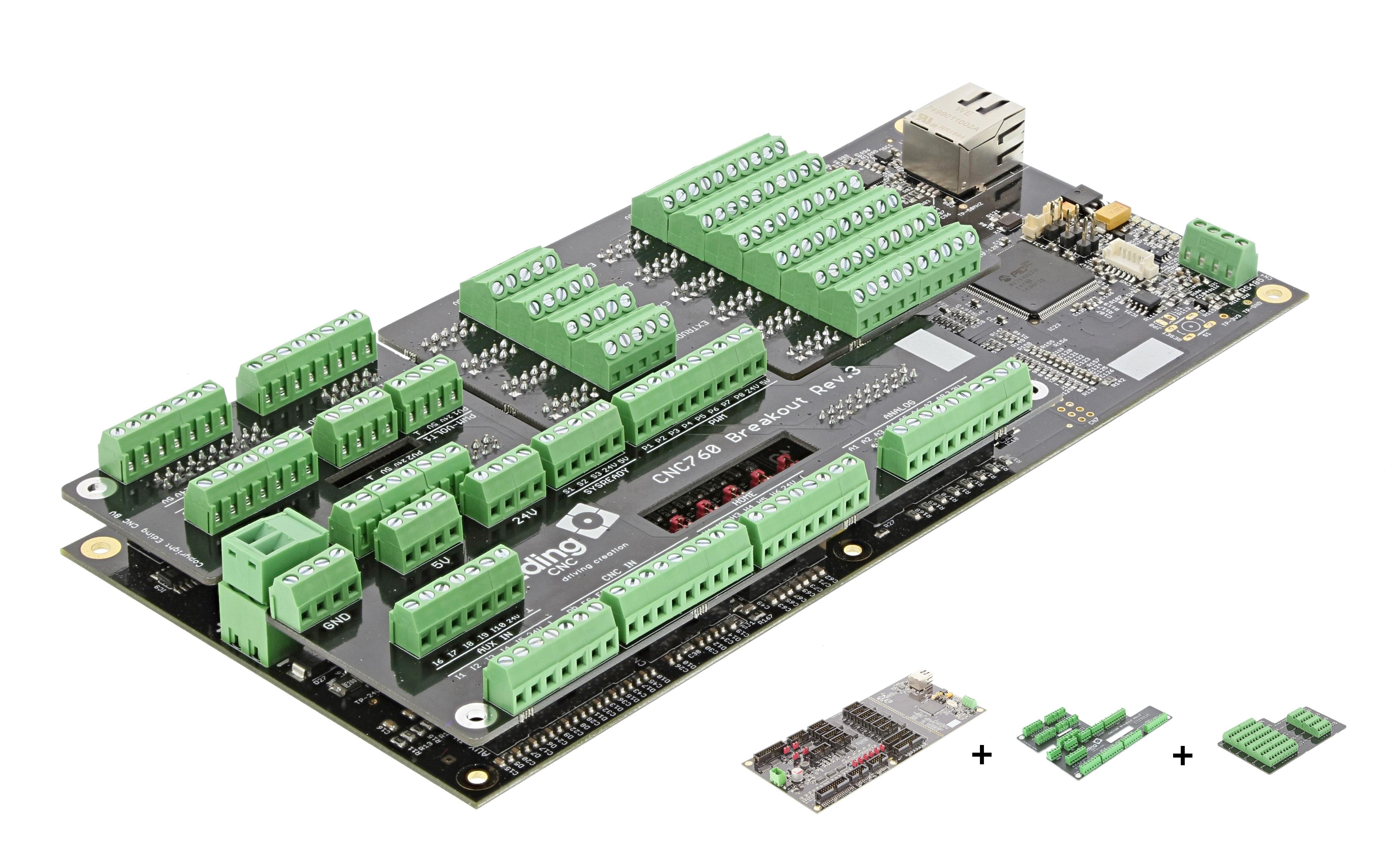 48902 cnc760 breakout board axis breakout