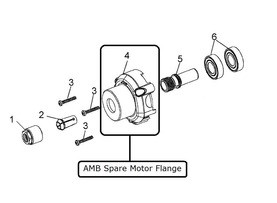48961 amb kress spare motor flange