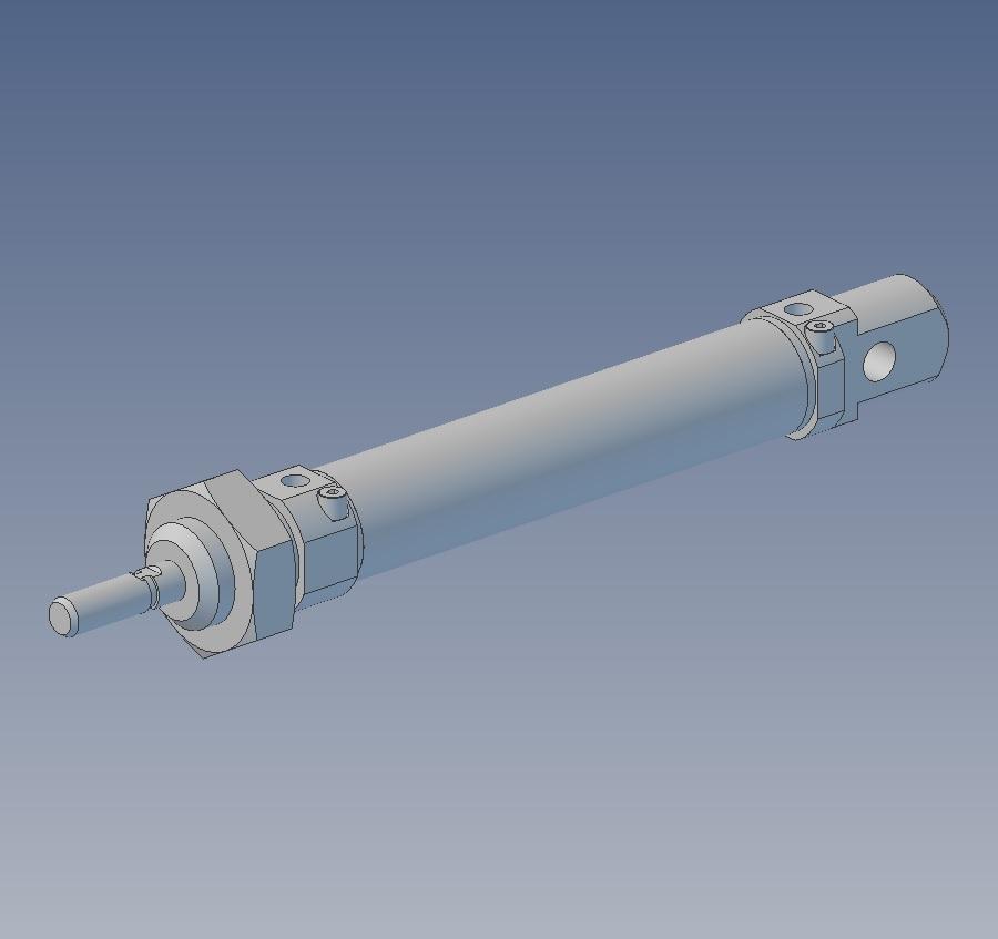 49022 113 016 0050cp 16mm 50mm stroke iso6432 std pneumatic cilinder 3d render