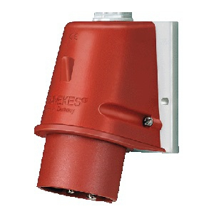49381 mennekes wall mounted inlet 801 16amps 5p 400v ip44