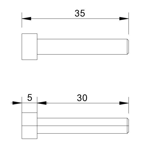 4961 din 912 metric bolts m5x30 length dimension