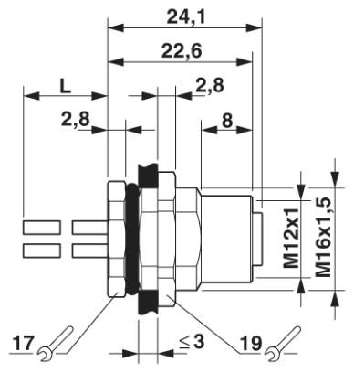 49702 m12s power 3pe panel mount with 50cm dimensions
