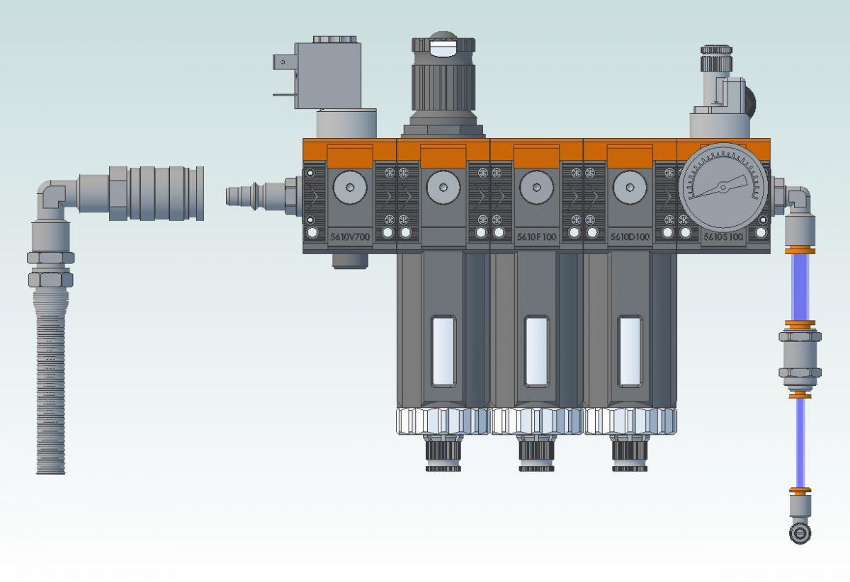 49741 diy pneumatic package for teknomotor qtc