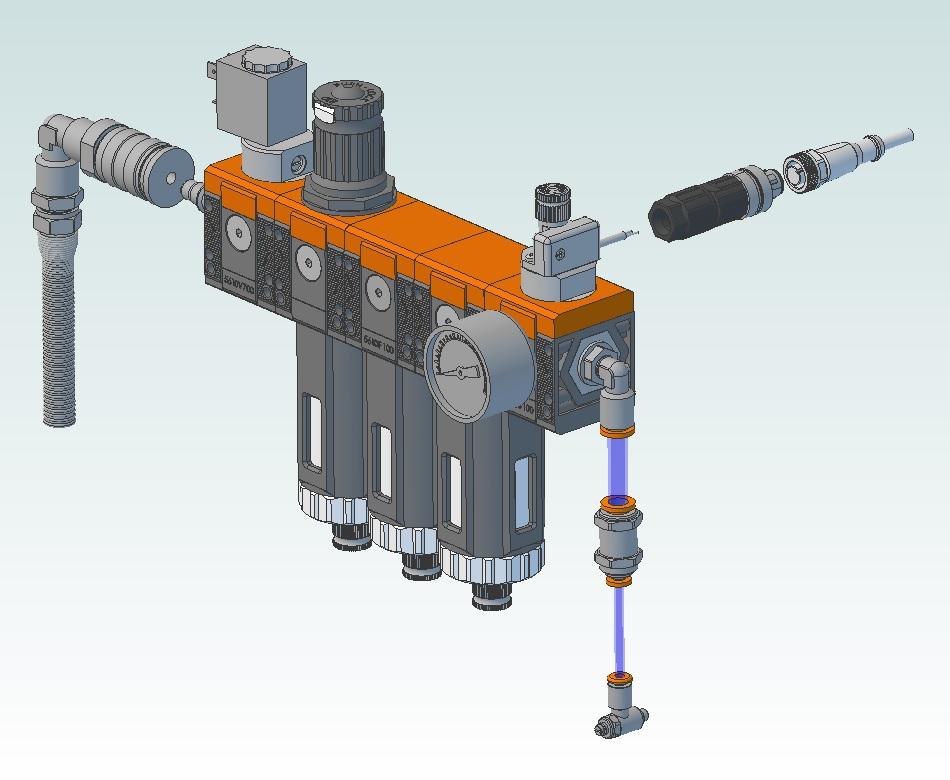 49742 diy pneumatic package for teknomotor qtc 3dview
