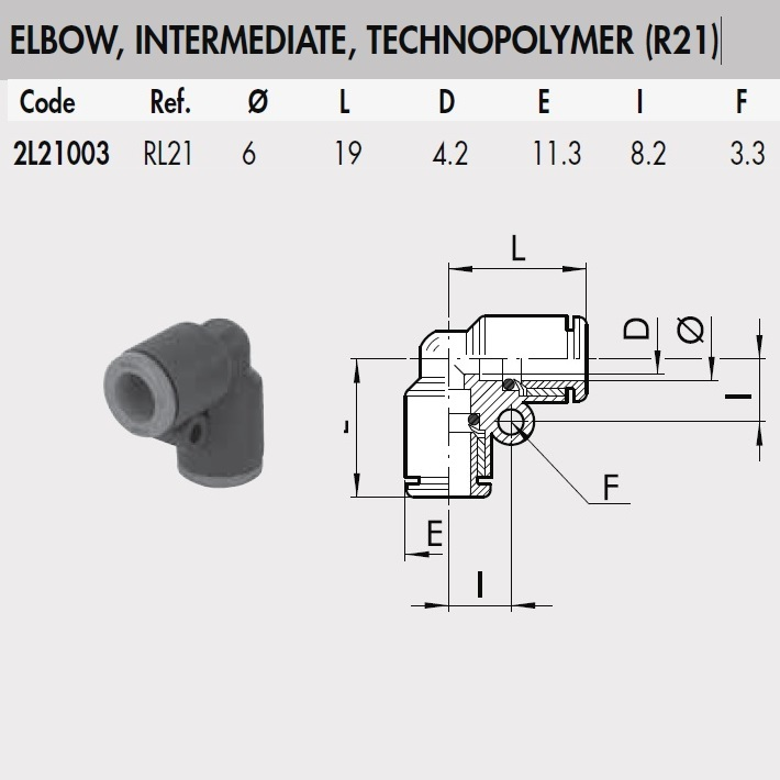 49872 2l21003 rl21 6 mm elbow intermediate connector plastic rl21 dimensions