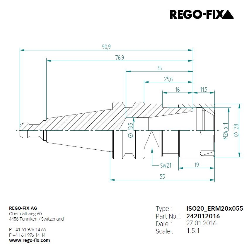 49942 iso20 er20 l55mm toolholderpullstud regofix 242012016