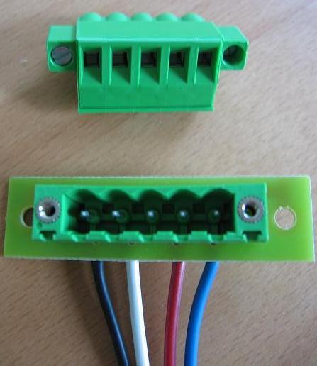 5 pole connector prewiredbus