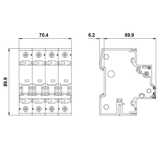 50322 siemens circuit breaker 5sy46167 dimensions