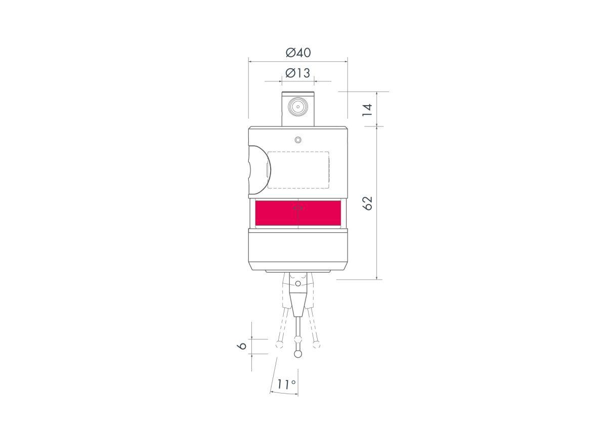 50383 tc62 workpiece touch probe dimensions