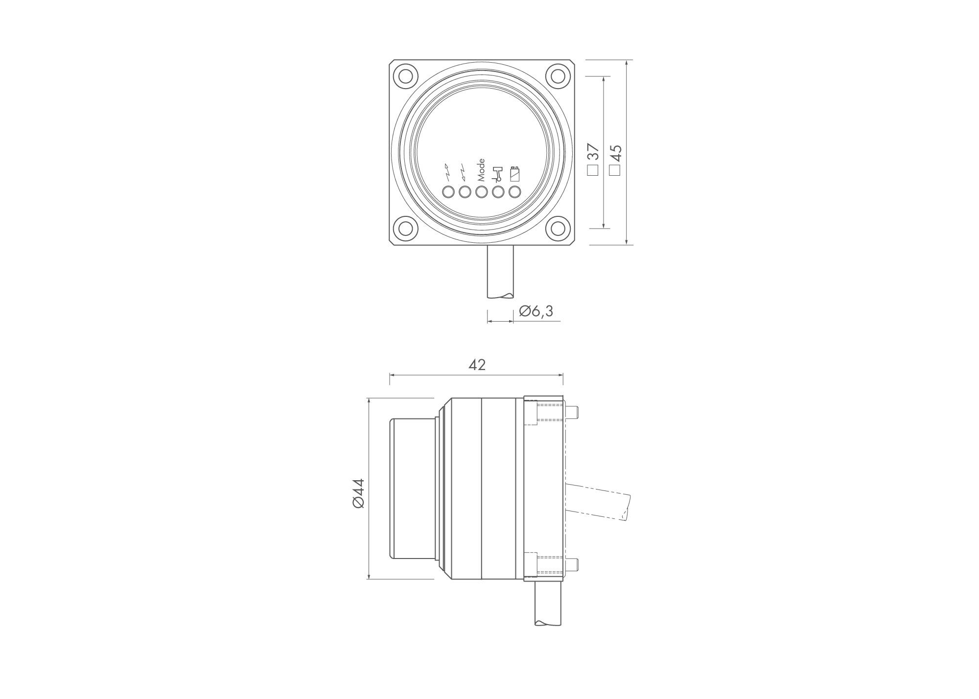 50389 tc62 workpiece touch probe receiver dimensions