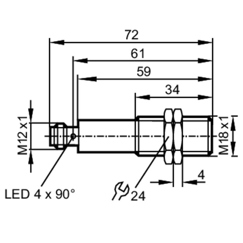 50634 ogs700 laser fotocel transmitter module laser pointer dimensions