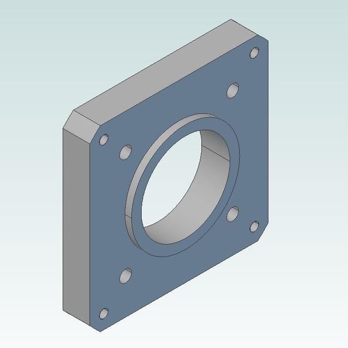 50861 input flange 80x80 delta c20804r7 servo for dcncrag