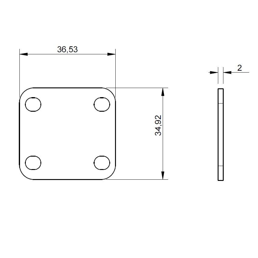 51102 2mm spacer for destaco 215u 2d dimensions