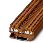 Feed-through terminal - PT 1,5/S-QUATTRO - 1176490 (BROWN)