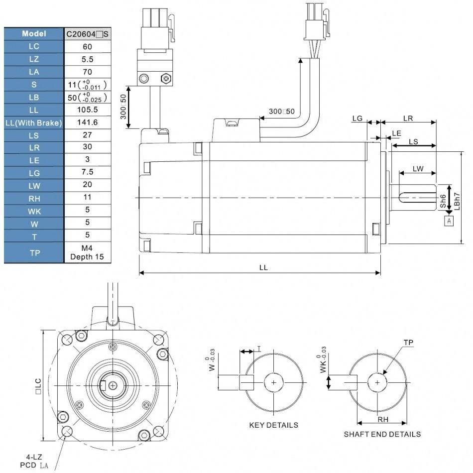 51312 ac servo motor 200w ecmac20602r1