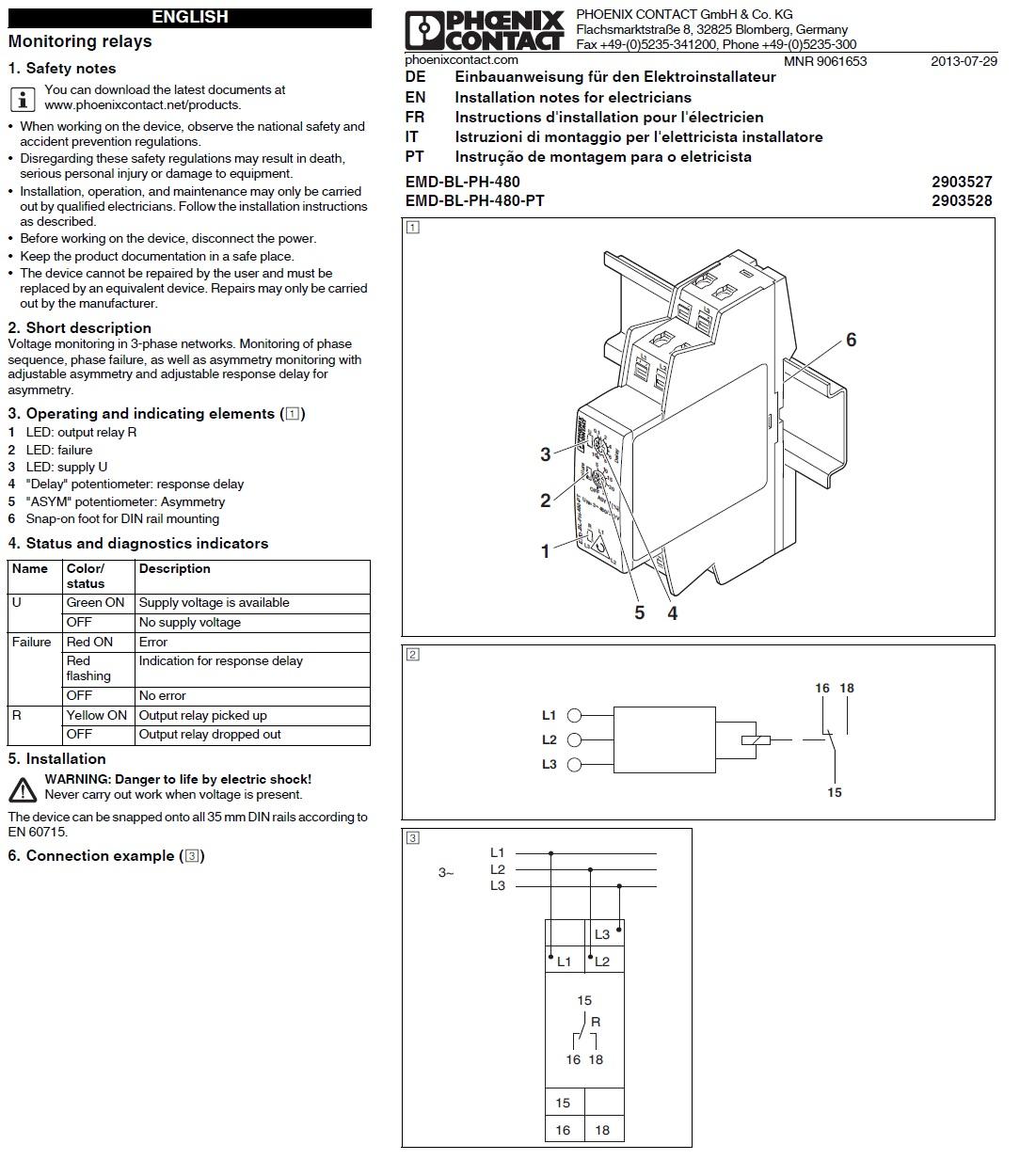 51333monitoringrelaisemdblph480pt2903528 schematic instructions