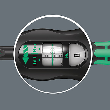 51414 adjustable torque wrench 1050 nm with 12 inch ratchet easy reading