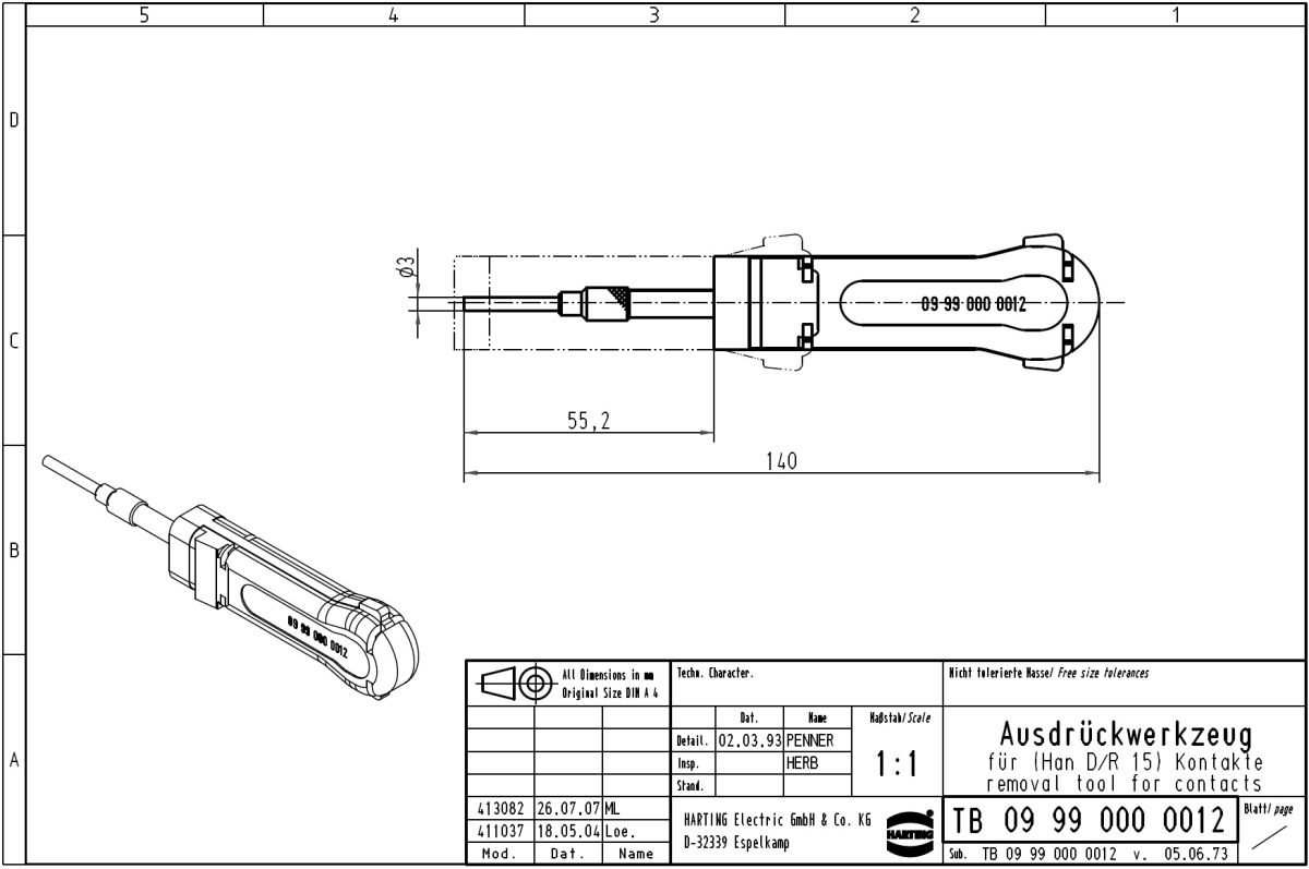 51862 extraction tool harting han d series contacts han d series dimensions