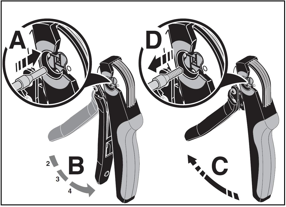 51884 crimping pliers crimpfox centrus 6s 1213144 how to use