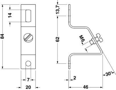 51892 angled bracket bgsh 1201099 2d dimensions