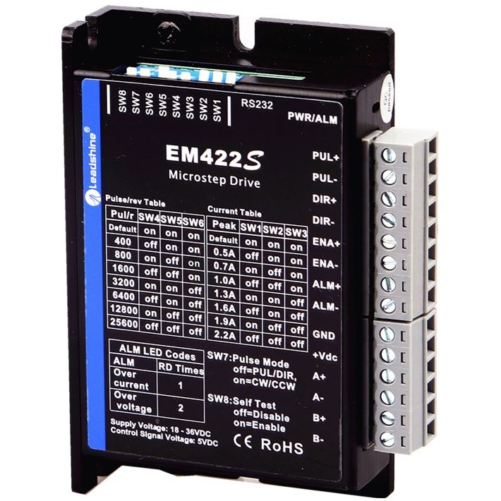 52011 advanced digital stepper drive em422s 36v 22a 2phase